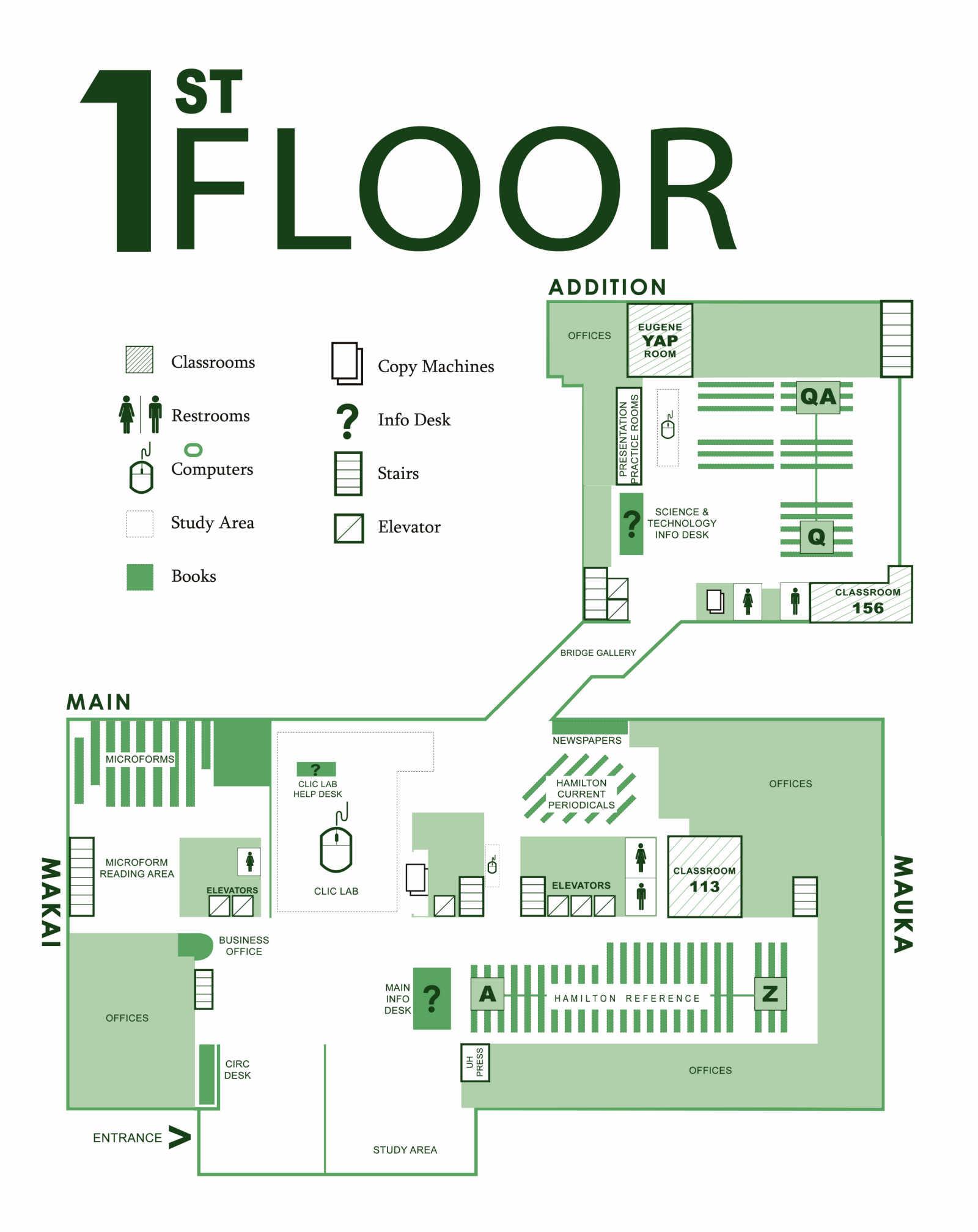 Floorplans University Of Hawaii At Manoa Library