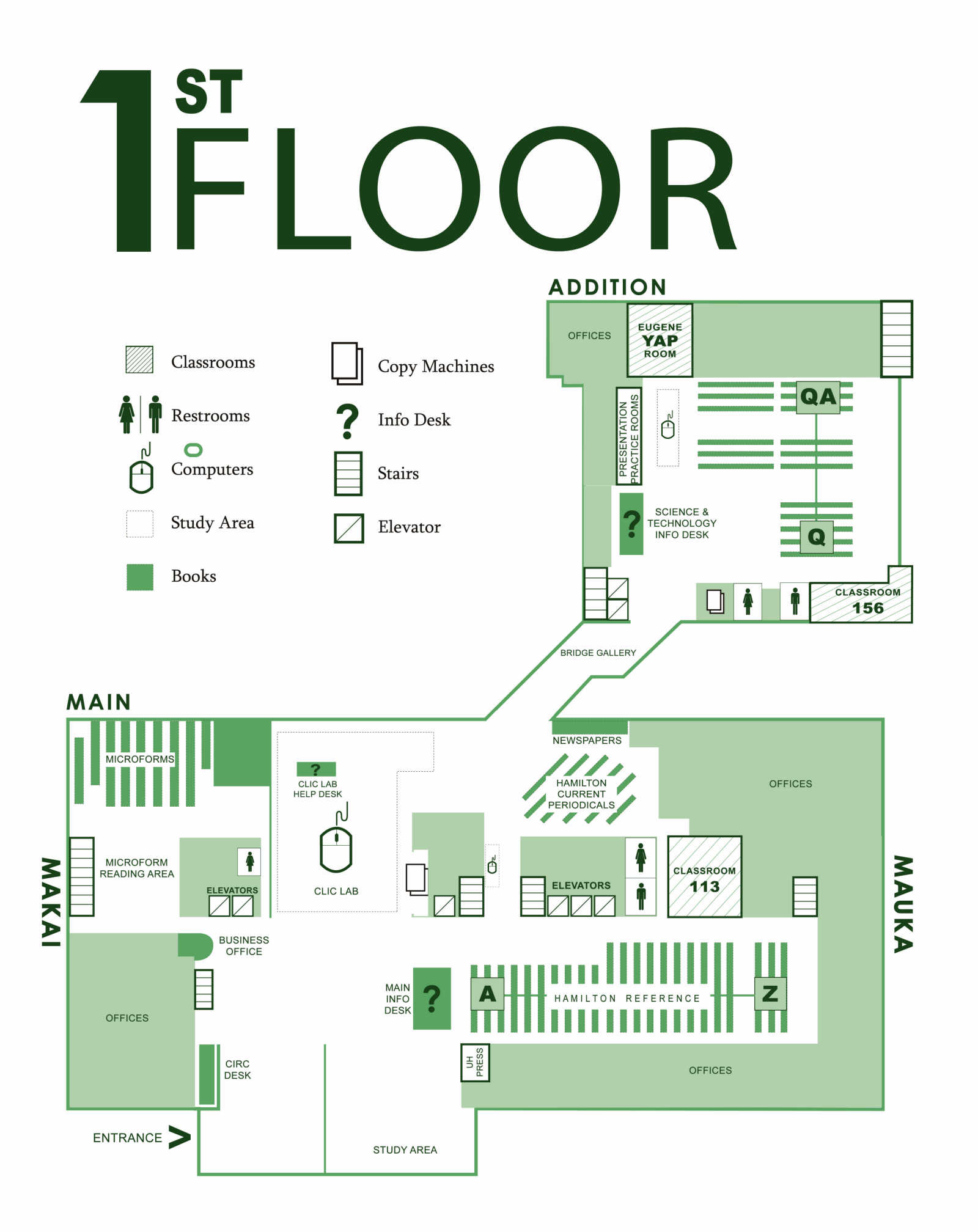 Floorplans university of hawaii at manoa library for 0 floor