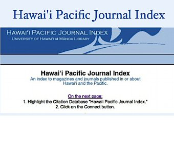 Hawaii Pacific Journal Index
